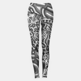 Miniature de image de Black and whilte language portal Leggings, Live Heroes