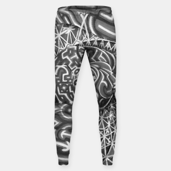 Thumbnail image of Black and whilte language portal Sweatpants, Live Heroes
