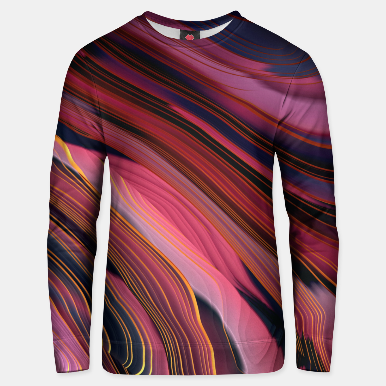 Image of Plum Abstract Unisex sweater - Live Heroes