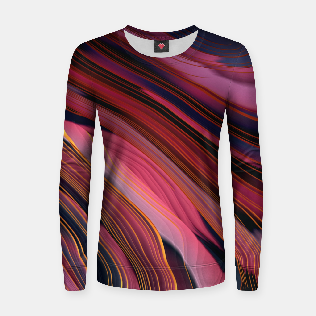 Image of Plum Abstract Women sweater - Live Heroes