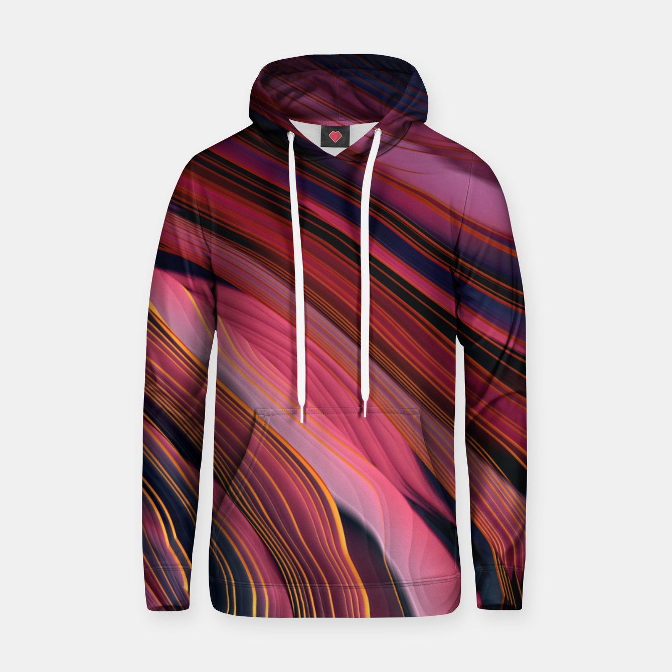 Image of Plum Abstract Hoodie - Live Heroes