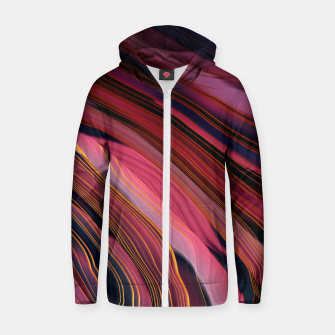 Plum Abstract Zip up hoodie thumbnail image