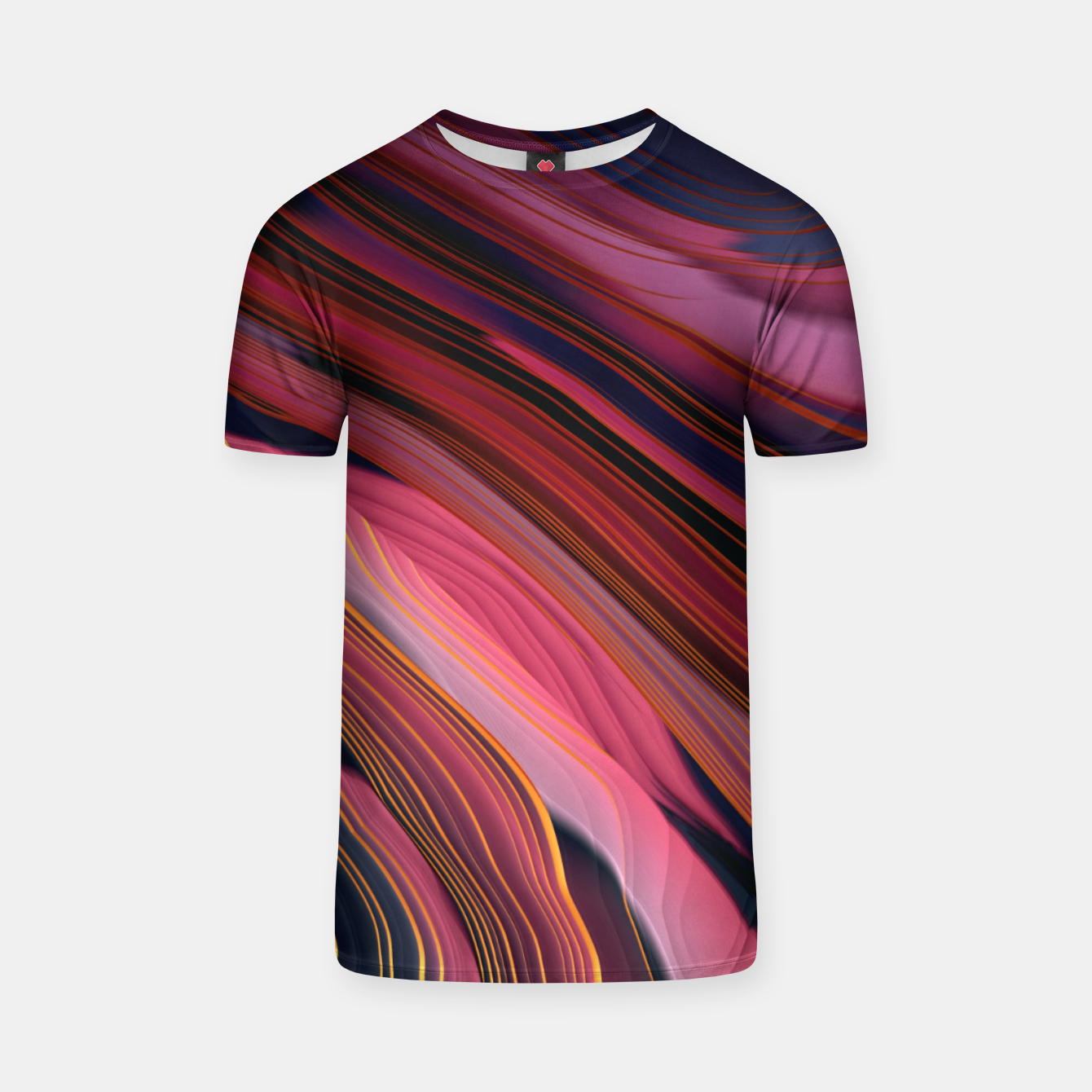 Image of Plum Abstract T-shirt - Live Heroes