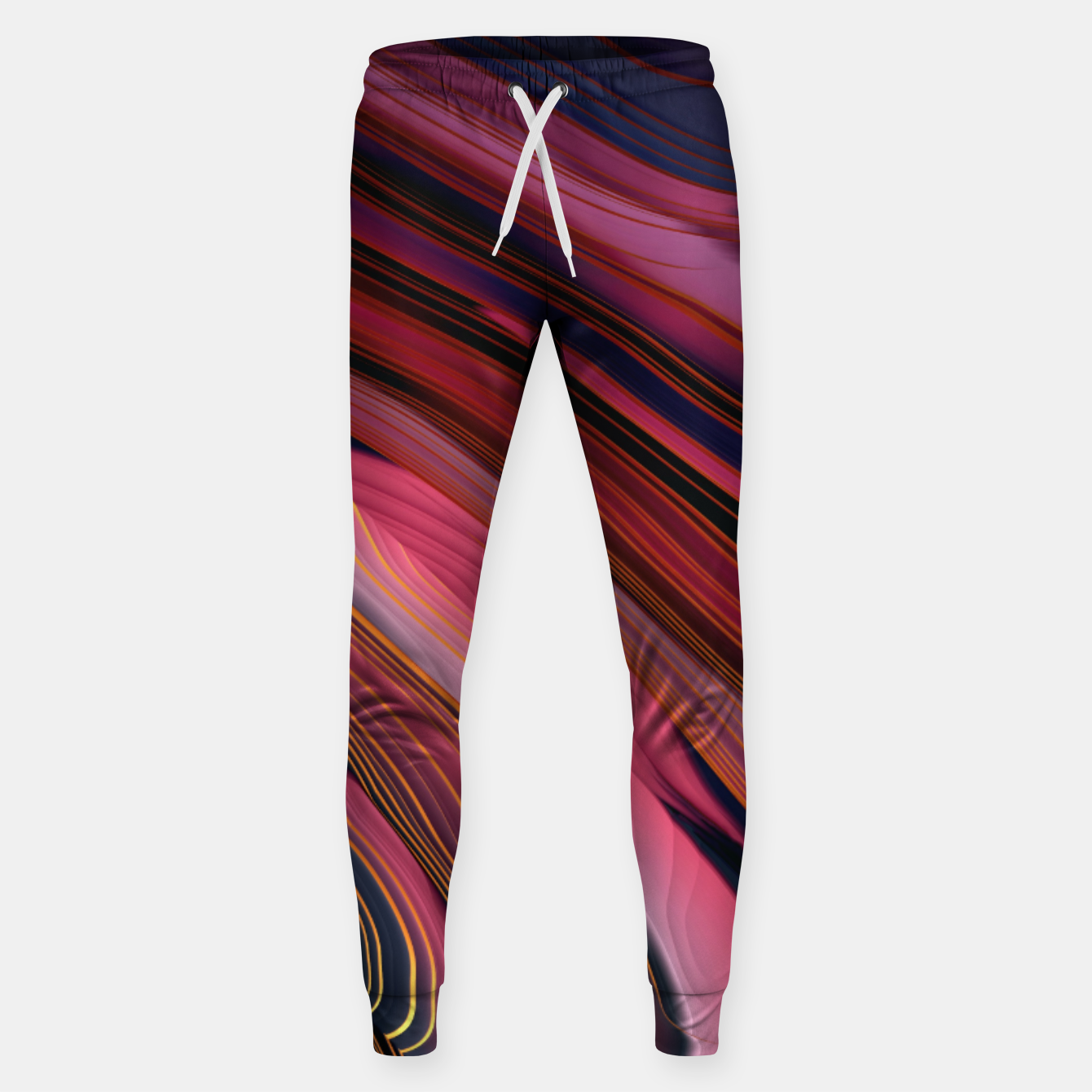 Image of Plum Abstract Sweatpants - Live Heroes