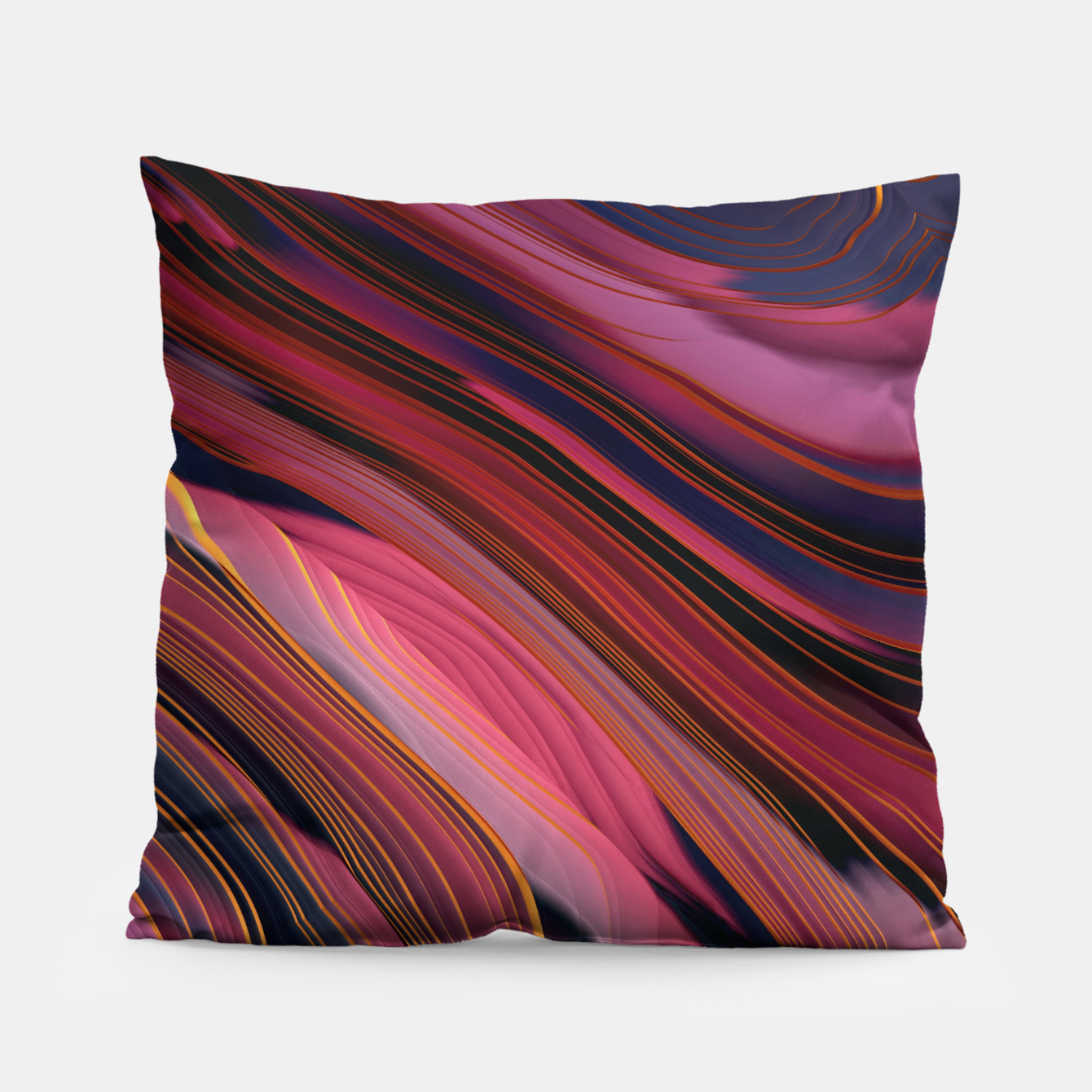 Image of Plum Abstract Pillow - Live Heroes