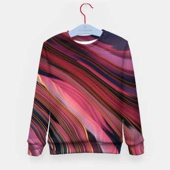 Thumbnail image of Plum Abstract Kid's sweater, Live Heroes