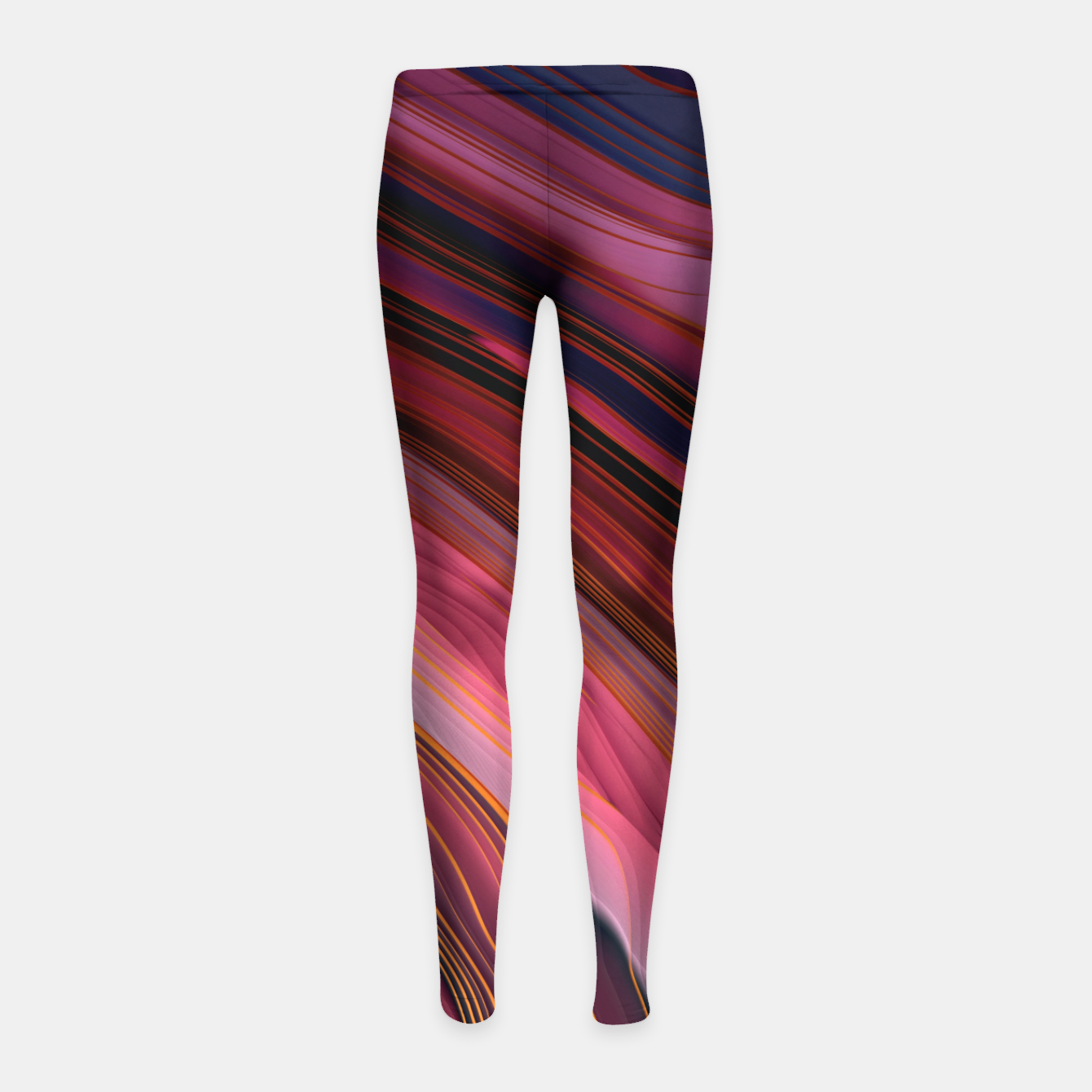Image of Plum Abstract Girl's leggings - Live Heroes