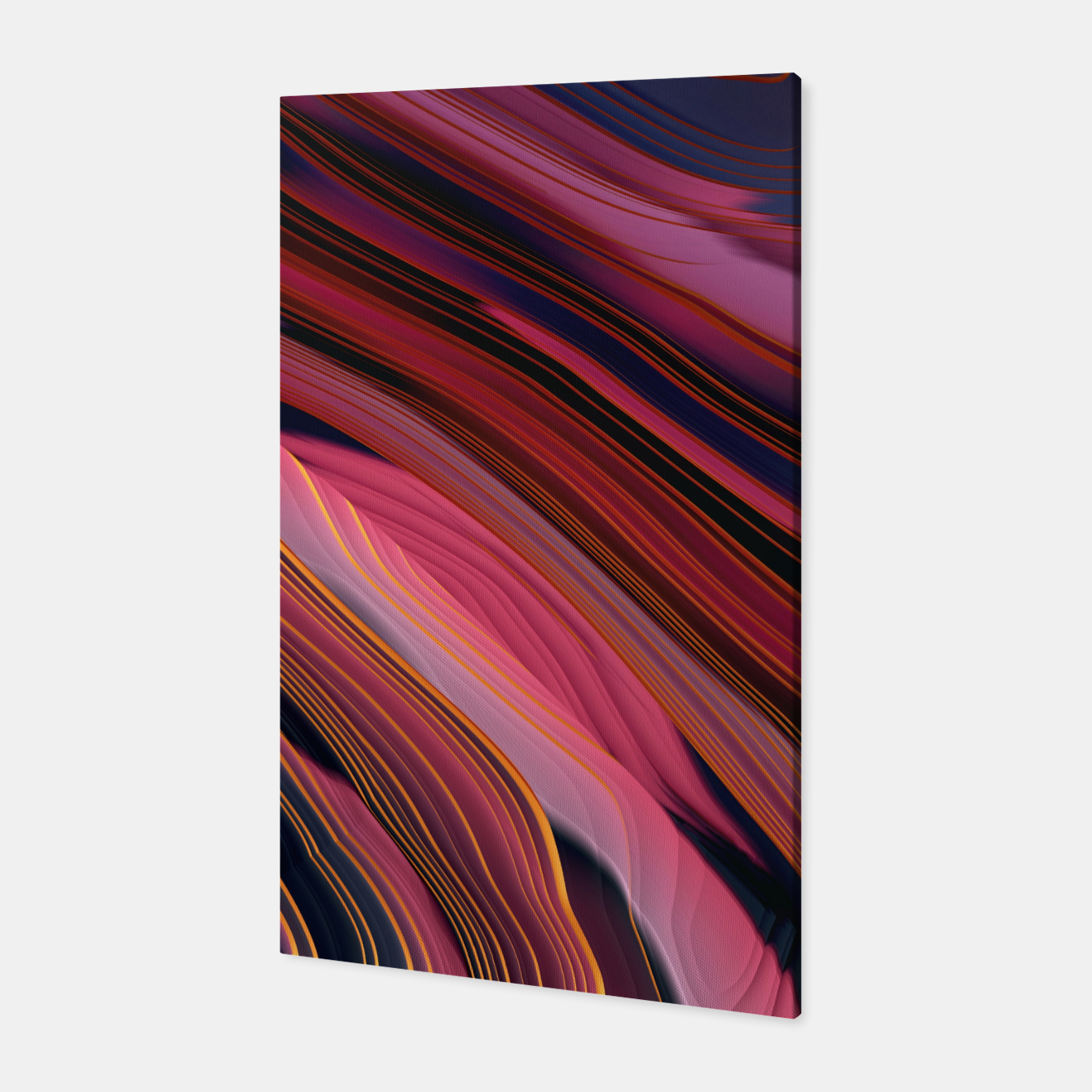 Image of Plum Abstract Canvas - Live Heroes