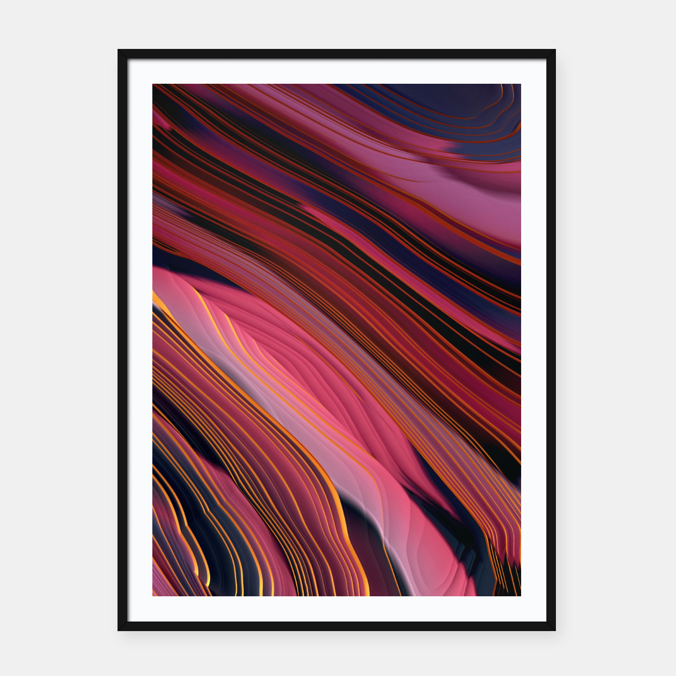 Image of Plum Abstract Framed poster - Live Heroes