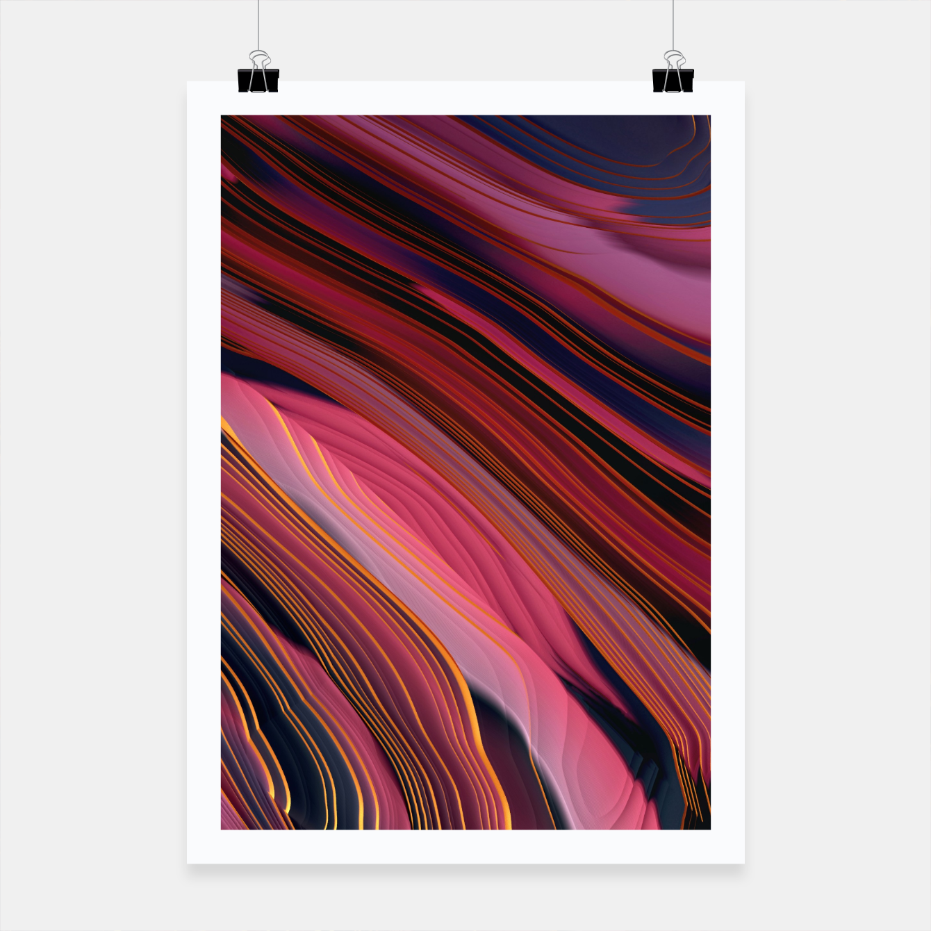 Image of Plum Abstract Poster - Live Heroes