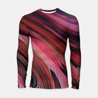 Plum Abstract Longsleeve rashguard  thumbnail image