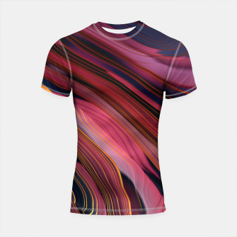Thumbnail image of Plum Abstract Shortsleeve rashguard, Live Heroes
