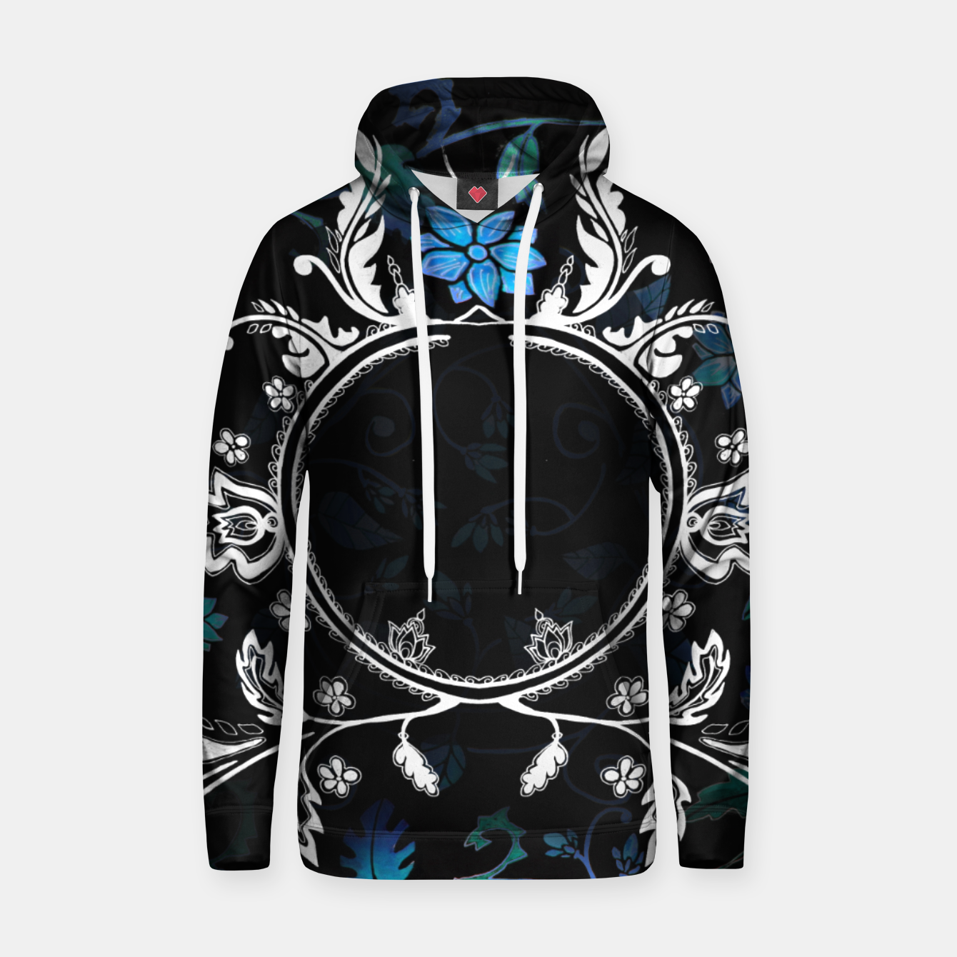 Image of Pattern black hoodie Emily Nayhree Dawson Art - Live Heroes