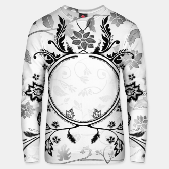 Thumbnail image of White Black Pattern Sweater with Emily Nayhree Dawson Art, Live Heroes