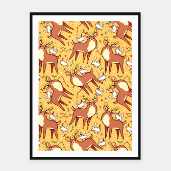 Thumbnail image of Reindeers and Kittens Framed poster, Live Heroes
