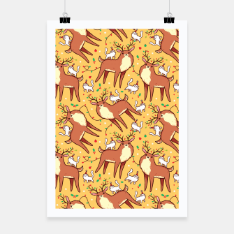 Miniatur Reindeers and Kittens Poster, Live Heroes
