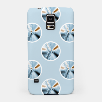 Miniatur Light Blue Polka Dot Fractal Pattern Samsung Case, Live Heroes