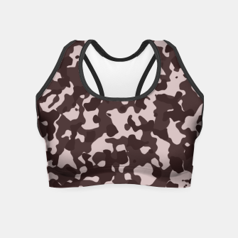 Thumbnail image of Camouflage Marron Crop Top, Live Heroes