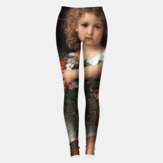 Thumbnail image of Little Girl With Flowers by William-Adolphe Bouguereau Leggings, Live Heroes