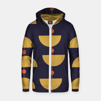 Thumbnail image of Mid century modern abstract pattern Zip up hoodie, Live Heroes