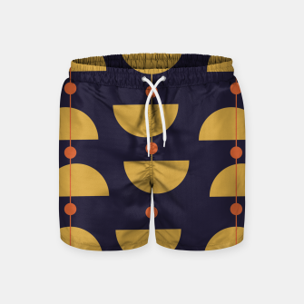 Thumbnail image of Mid century modern abstract pattern Swim Shorts, Live Heroes
