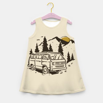 Miniatur Wanderlust Girl's summer dress, Live Heroes