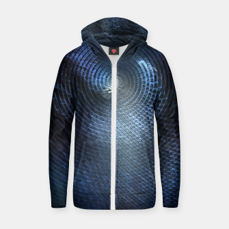 Miniatur Mat Braid CLR Abstract Fractal Art Zip up hoodie, Live Heroes