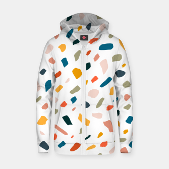 Thumbnail image of Terrazzo Zip up hoodie, Live Heroes