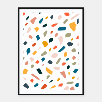 Thumbnail image of Terrazzo Framed poster, Live Heroes
