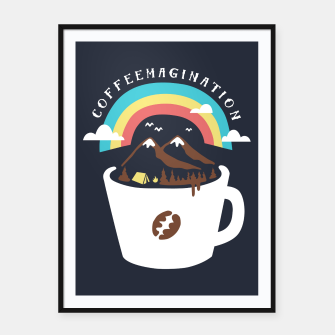Miniatur Coffeemagination Framed poster, Live Heroes