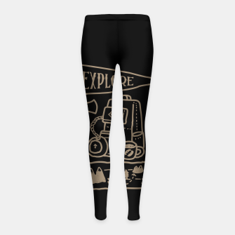 Miniatur Explore Girl's leggings, Live Heroes