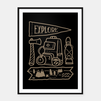 Miniatur Explore Framed poster, Live Heroes