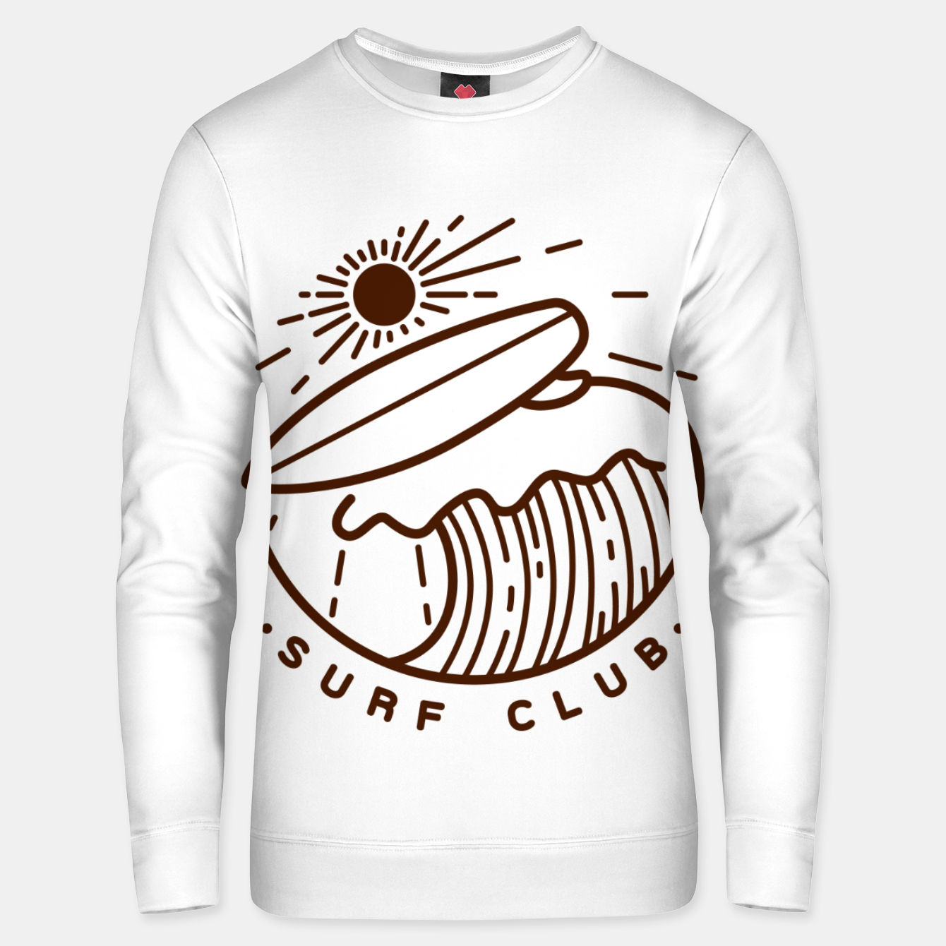 Image of Surf Club Unisex sweater - Live Heroes