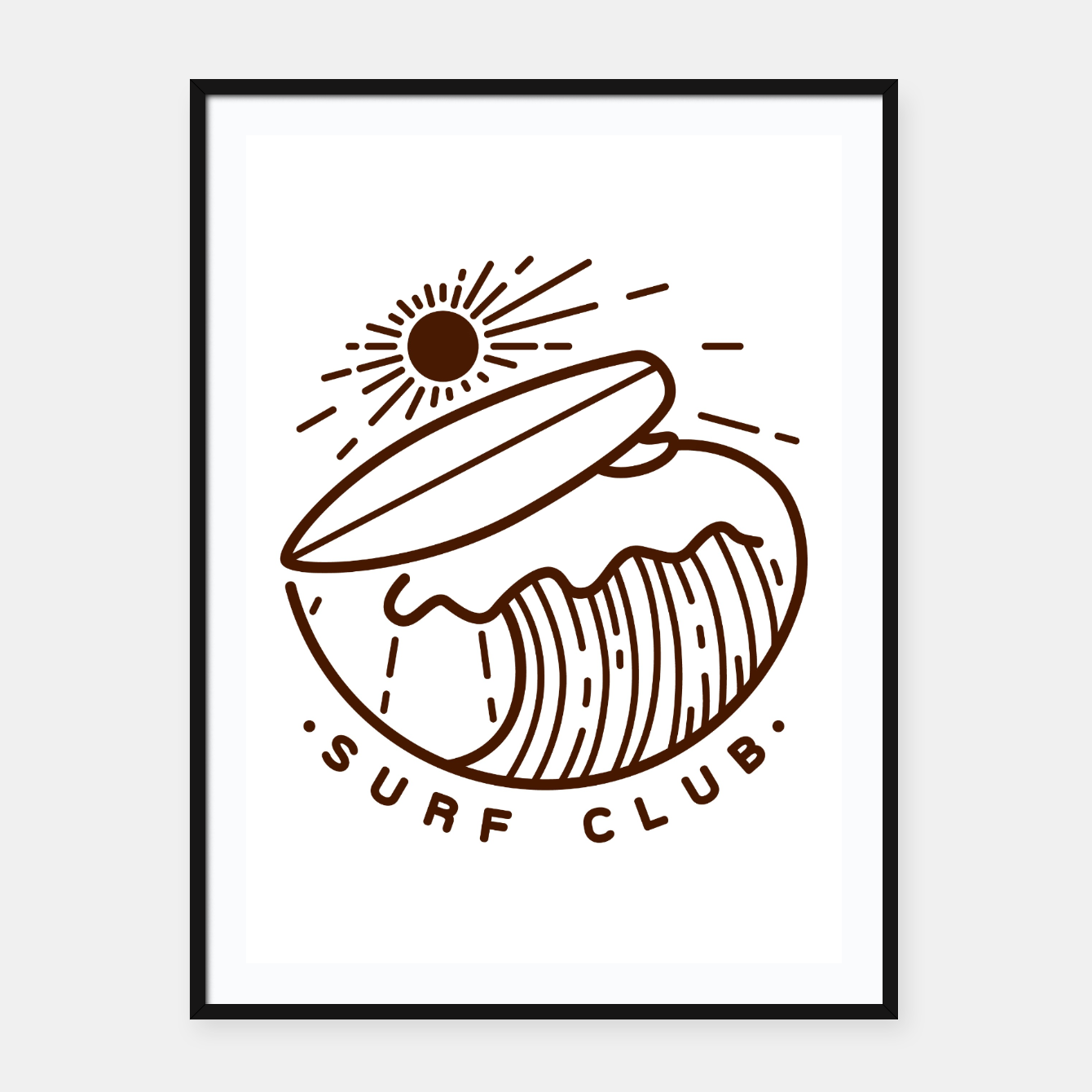 Image of Surf Club Framed poster - Live Heroes