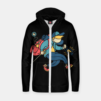 Miniatur Happy Hiker Zip up hoodie, Live Heroes