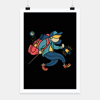 Thumbnail image of Happy Hiker Poster, Live Heroes