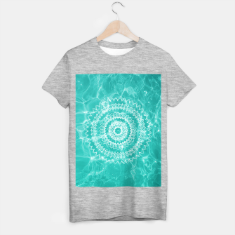 Miniaturka Pool Dream Mandala #1 #water #boho #decor #art  T-Shirt regulär, Live Heroes