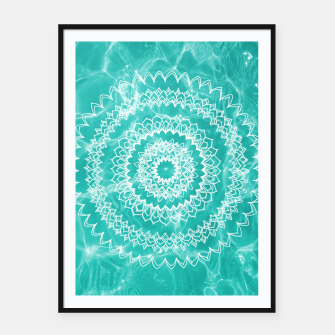 Miniaturka Pool Dream Mandala #1 #water #boho #decor #art  Plakat mit rahmen, Live Heroes