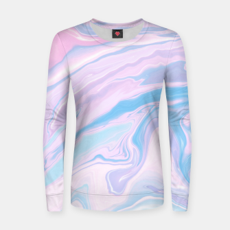 Miniaturka Pastel Unicorn Marble Dream #1 #pastel #decor #art Frauen sweatshirt, Live Heroes