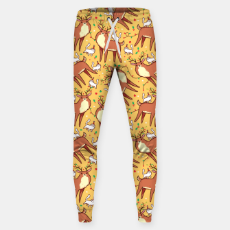 Thumbnail image of Reindeers and Kittens Sweatpants, Live Heroes