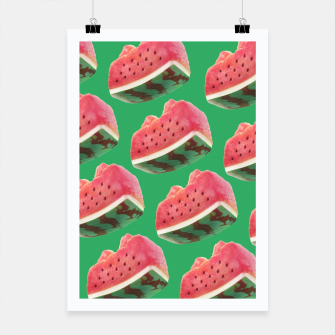 Thumbnail image of Watermelon Pattern Poster, Live Heroes