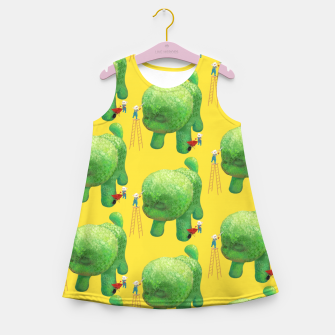 Thumbnail image of Topiary Dog Girl's summer dress, Live Heroes