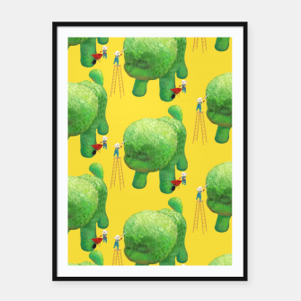 Thumbnail image of Topiary Dog Framed poster, Live Heroes