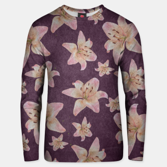 Thumbnail image of Vintage lilies Unisex sweater, Live Heroes