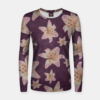 Thumbnail image of Vintage lilies Women sweater, Live Heroes