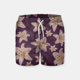 Thumbnail image of Vintage lilies Swim Shorts, Live Heroes