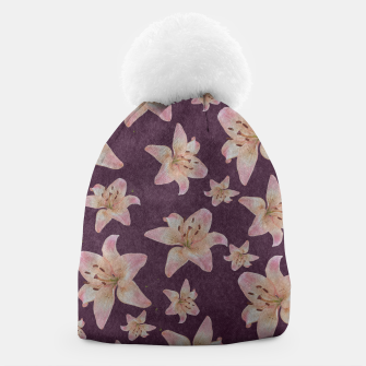 Thumbnail image of Vintage lilies Beanie, Live Heroes