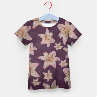 Thumbnail image of Vintage lilies Kid's t-shirt, Live Heroes