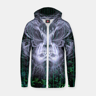Thumbnail image of Ice Flame Matrix Zip up hoodie, Live Heroes