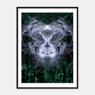 Thumbnail image of Ice Flame Matrix Framed poster, Live Heroes